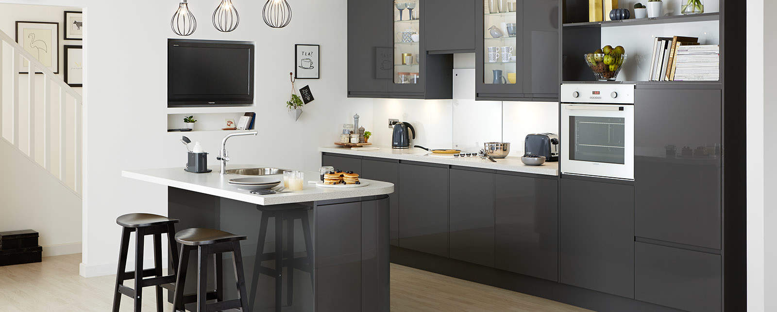 Black Gloss Kitchen Howdens
